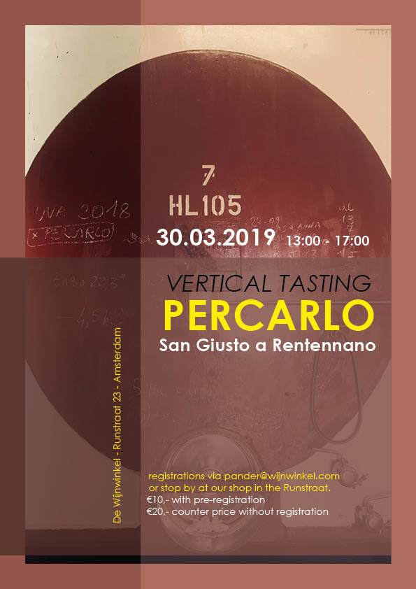 Vertical Tasting Percarlo, Saturday 30th of March
