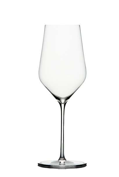 Glas witte wijn Zalto