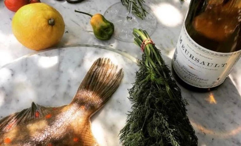 Our favourite food with Meursault