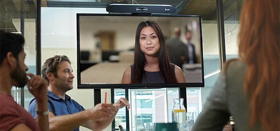 Poly x50 videobar voor Zoom Meetings
