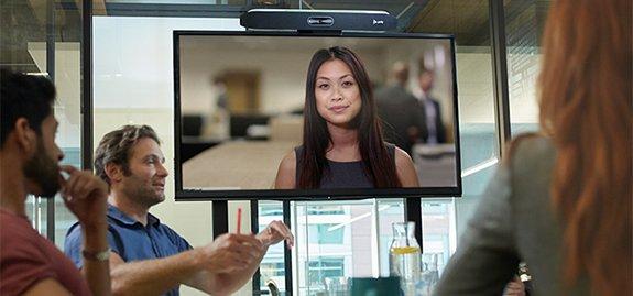 Poly x50 videobar voor Zoom Meetings