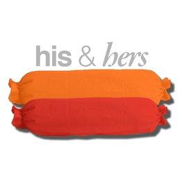 His&Hers His & Hers oranje-rood (of kies je kleurcombi)