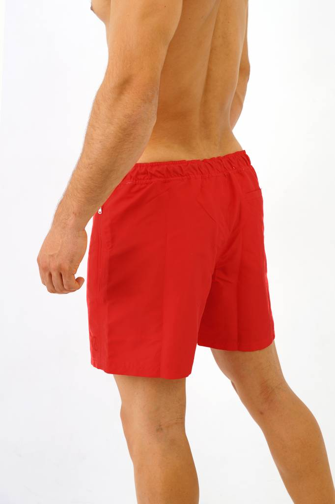 Arpione White Tip Mid-length Swim Short - Pure Red