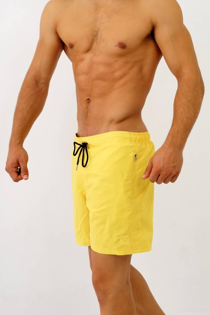Arpione White Tip Mid-length Swim Short - Golden Glow
