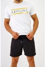 Arpione White Tip Maillot de Bain Mi-Longue - Squid black print