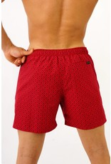 Arpione White Tip Mid-length Swim Short - Burgundy