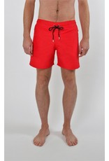 Arpione White Tip Mid-length Swim Short - Pure Red
