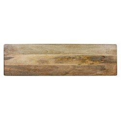 At Home with Marieke Wooden Serving Tray XL Natural board, 88x30cm