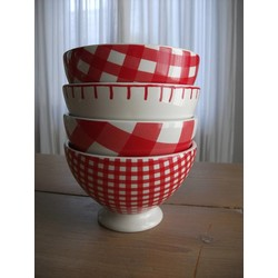 At Home with Marieke Bowl set Red 14,5cm