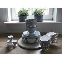 At Home with Marieke Lunch/Dinner Set Grey