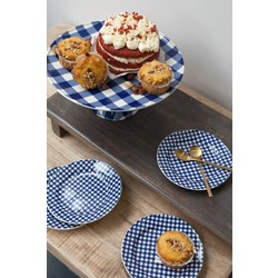 At Home with Marieke At Home with Marieke benefit set cake platter and plates blue