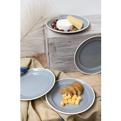 At Home with Marieke At Home with Marieke voordeel set Plate Puck Grey 26,5 cm