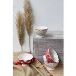 At Home with Marieke At Home with Marieke advantage set of bowls red