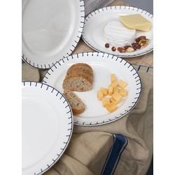 At Home with Marieke At Home with Marieke voordeel set Plate Stitch Blue 26,5cm