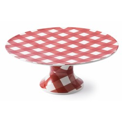 At Home with Marieke Cake Plateau Anne Red 32cm