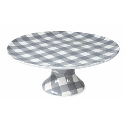 At Home with Marieke Cake Plateau Anne Grey 32cm