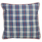 At Home with Marieke Cushion 50x50cm, blue fruit / natural stripe