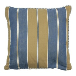 At Home with Marieke Cushion cover 50x50cm, blue khaki stripe