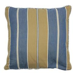 At Home with Marieke Kussen hoes 50x50cm, blauwe khaki streep