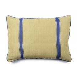At Home with Marieke Cushion cover 50x70cm, blue stripe / plain blue
