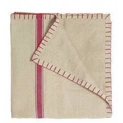 At Home with Marieke Tablecloth Red Stripe