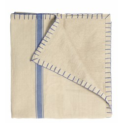 At Home with Marieke Tablecloth Stripe Blue