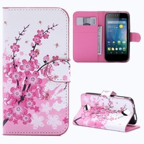 Roze Bloesem Bookcase Hoesje Acer Liquid Z330