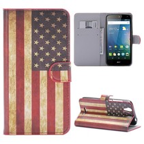 Amerikaanse Vlag Bookcase Hoesje Acer Liquid Z630(S)
