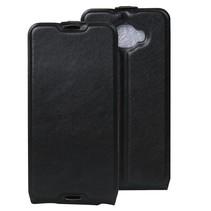 Zwart Flip Case Hoesje Alcatel One Touch Idol 4s