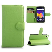 Groene lychee Bookcase hoes Alcatel One Touch Idol 3 (4.7)