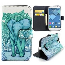 Olifant Bookcase hoes Alcatel One Touch Pop C7