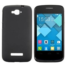 Zwart TPU hoesje Alcatel One Touch Pop C7