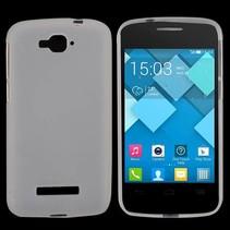 Transparant mat TPU hoesje Alcatel One Touch Pop C7