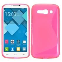 Roze S-design TPU hoesje Alcatel One Touch Pop C9