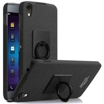 Zwart Hardcase Ring Hoesje BlackBerry DTEK50