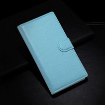 Blauwe lychee Bookcase hoes Blackberry Z3