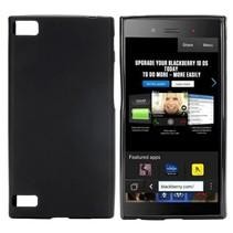 Zwart siliconen hoesje Blackberry Z3