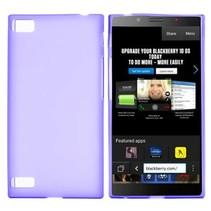 Paars siliconen hoesje Blackberry Z3