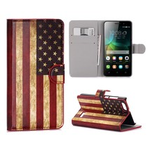 Amerikaanse Vlag Bookcase Hoesje Honor 4C
