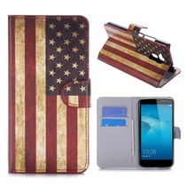 Amerikaanse Vlag Bookcase Hoesje Honor 5C