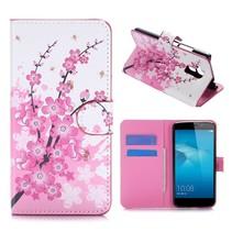 Roze Bloesem Bookcase Hoesje Honor 5C