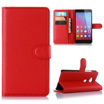 Rood Litchi Bookcase Hoesje Honor 5X
