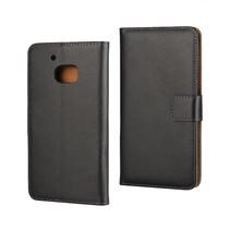 Zwart Leder Bookcase Hoesje HTC 10
