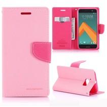 Diary Roze Bookcase Hoesje HTC 10