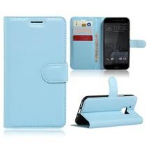 Blauw Litchi Bookcase Hoesje HTC 10