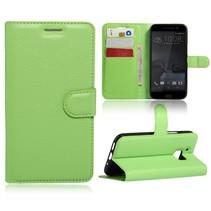 Groen Litchi Bookcase Hoesje HTC 10