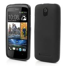 Compact effen zwart TPU hoesje HTC Desire 500