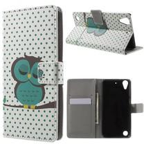 Slapende Uil Bookcase Hoesje HTC Desire 530 / 630