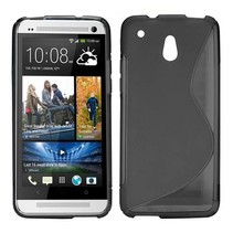 Zwart S-design flexibel TPU hoesje HTC One Mini