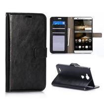 Zwart zakelijk Bookcase hoesje Huawei Mate 7